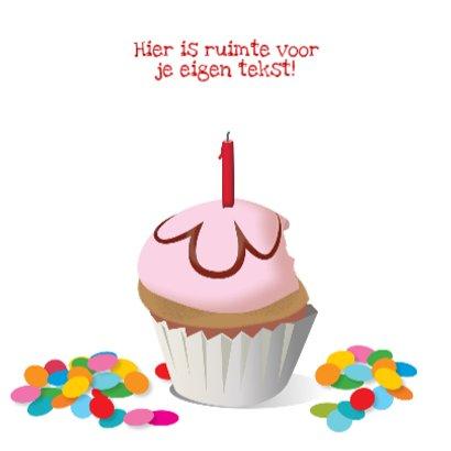 Verjaardagskaart Taartje Te laat 3