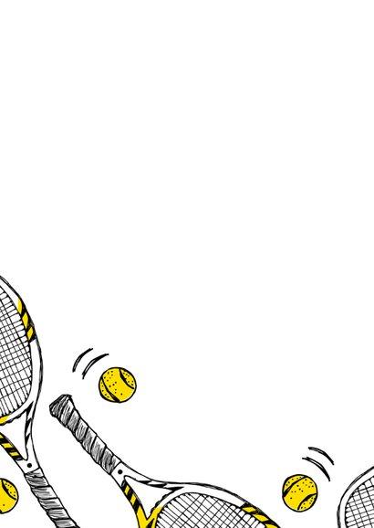 Verjaardagskaart tennisrackets 2