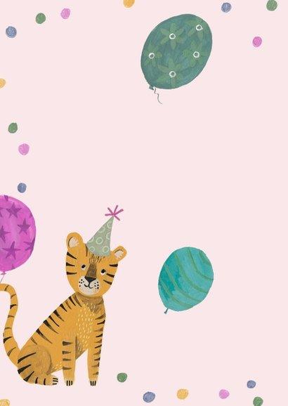Verjaardagskaart tijger jungle meisje 2