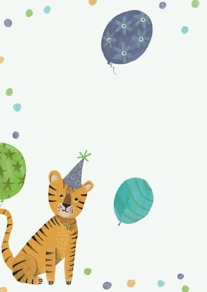 Verjaardagskaart tijger jungle 2