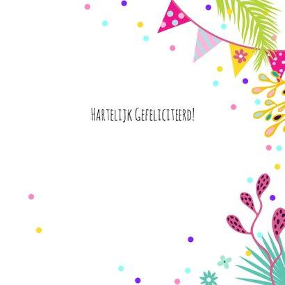 Verjaardagskaart toekan koppel in jungle met confetti 3