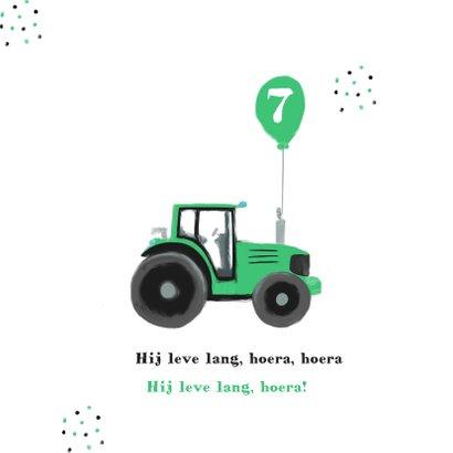 Verjaardagskaart tractor en confetti 2