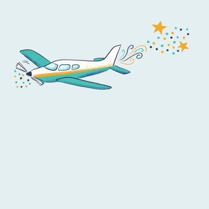 Verjaardagskaart trekker en vliegtuig 2