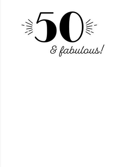 Verjaardagskaart turning 50 3
