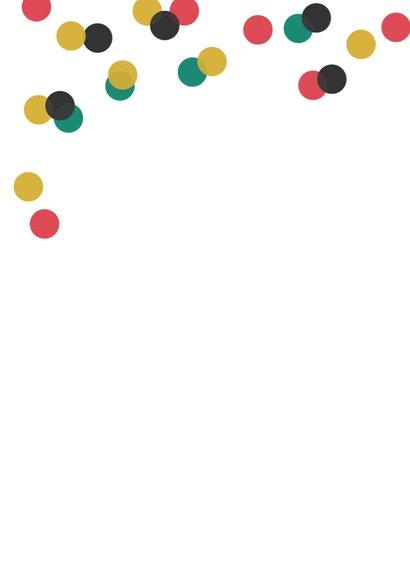 Verjaardagskaart typografie party hat 2