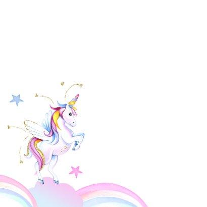 Verjaardagskaart unicorn wolkjes 2