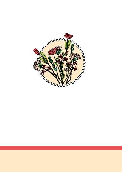 Verjaardagskaart vaasjes met bloemen 2