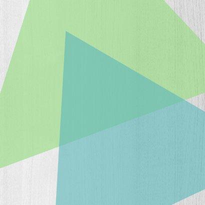 Verjaardagskaart van harte geometrisch en hout - DH 2