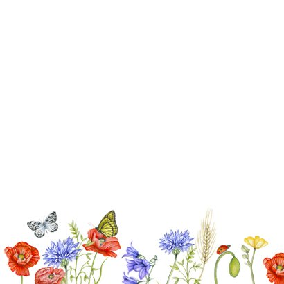 Verjaardagskaart veldbloemen  2