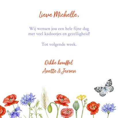 Verjaardagskaart veldbloemen  3