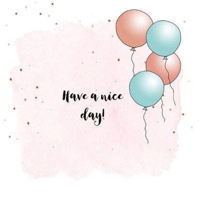 Verjaardagskaart Vespa Ape ballon 3