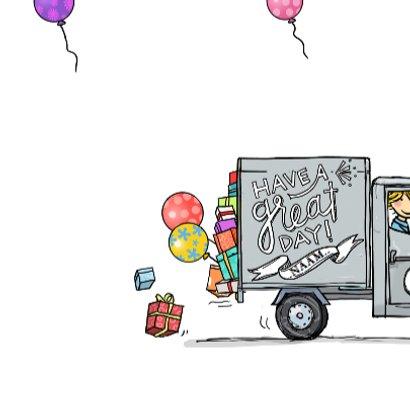 Verjaardagskaart Vespa Ape grijs 3