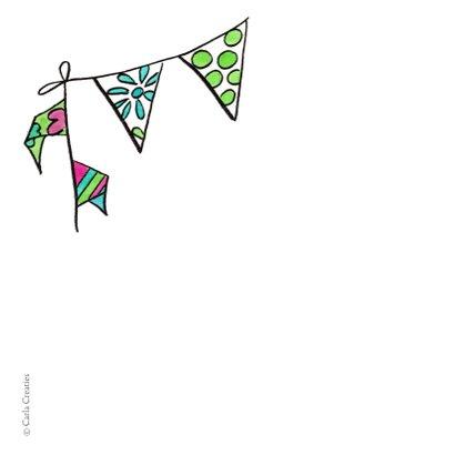 Verjaardagskaart vis met feesthoed 2