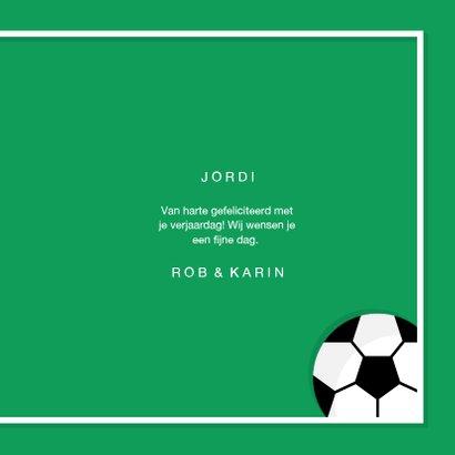 Verjaardagskaart voetbal sportieve felicitatie 3