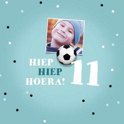 Verjaardagskaart voetbal stoer jongen confetti bal 2