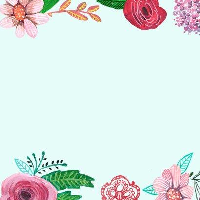 Verjaardagskaart bloemen bijzonder 2
