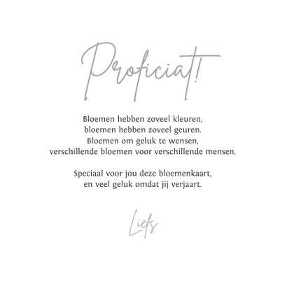 Verjaardagskaart vrouw bohemian droogbloemen stijlvol 3