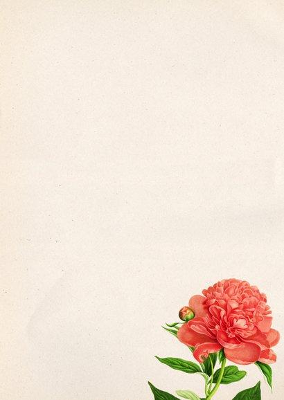 Verjaardagskaart vrouw Botanisch 3