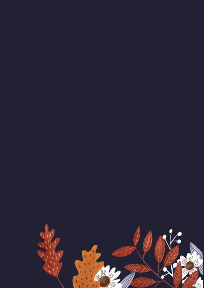 Verjaardagskaart vrouw herfst 2
