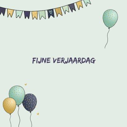 Verjaardagskaart vw busje met ballonnen 3