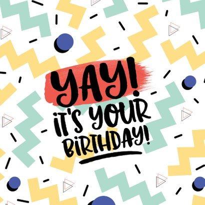 Verjaardagskaart Yay it's your birthday! graffiti man 2