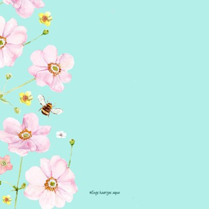 Verjaardagskaart Zachte roze bloemen 2