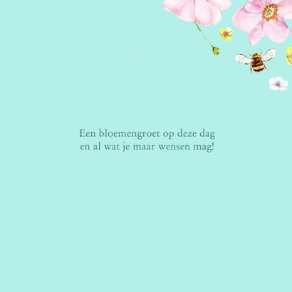 Verjaardagskaart Zachte roze bloemen 3