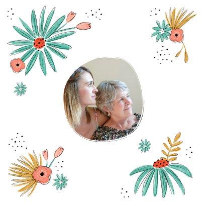 Verjaardagskaart zestig 60 bloemen proficiat van harte 2