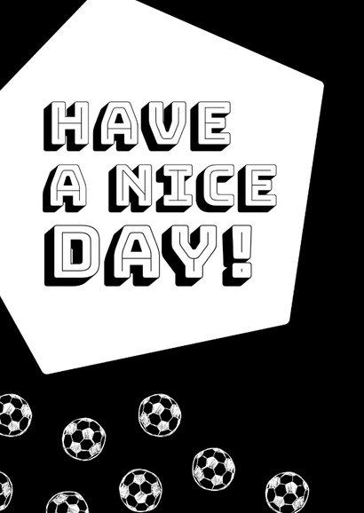 Verjaardagskaart zwartwit voetballen 2