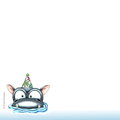 verjaardagskaarten hippo birthday 2