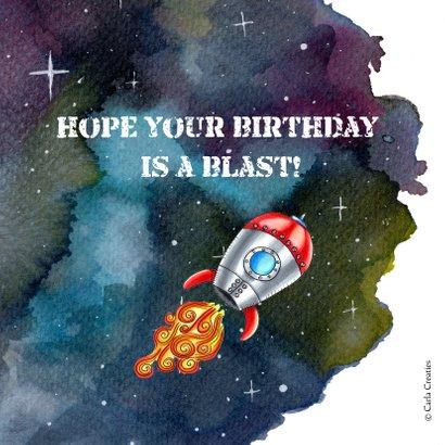 Verjaardagskaarten Raket in de Ruimte 2