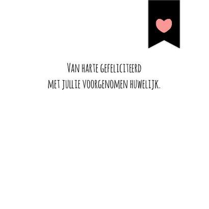 Verlovingskaartje Harten - WW 3