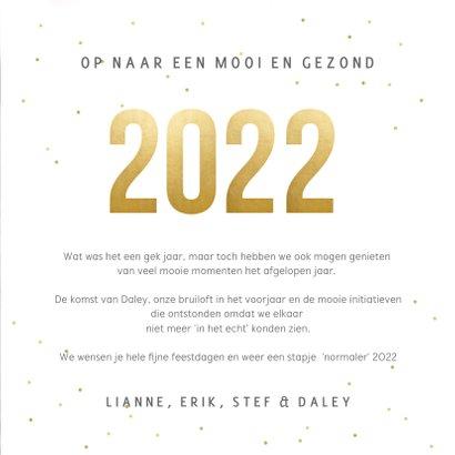Vierkante fotocollage terugblik 2021 kerstkaart met 8 foto's 3