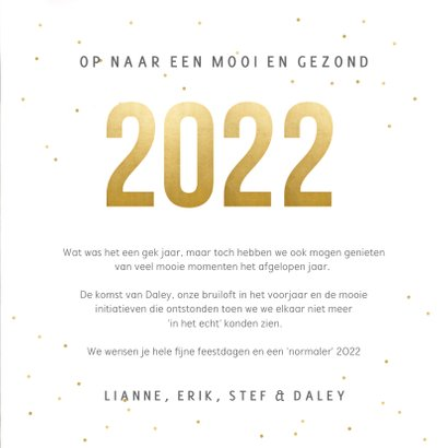 Vierkante nieuwjaarskaart fotocollage met terugblik op 2021 3