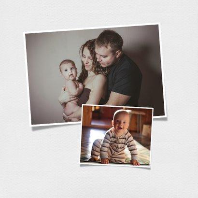 Vierkante ouderwetse polaroid fotokaart met eigen tekst 2