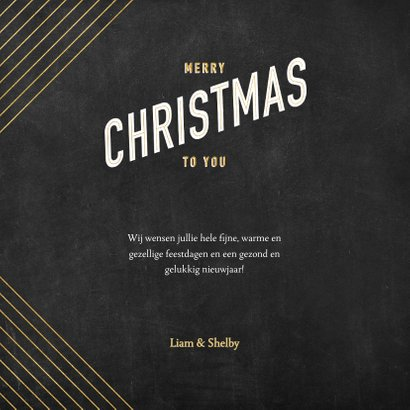 Vintage kerstkaart gouden patroon en typografie 3