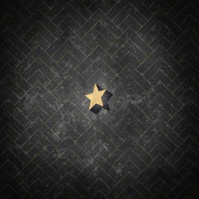Vintage nieuwjaarskaart 3d 2021 sterren en patroon Achterkant
