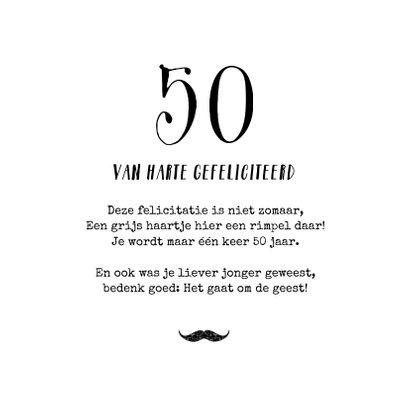 Vintage verjaardagskaart 50 jaar fiets man confetti 3