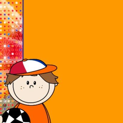 Voetbal jongen ORANJE disco 2