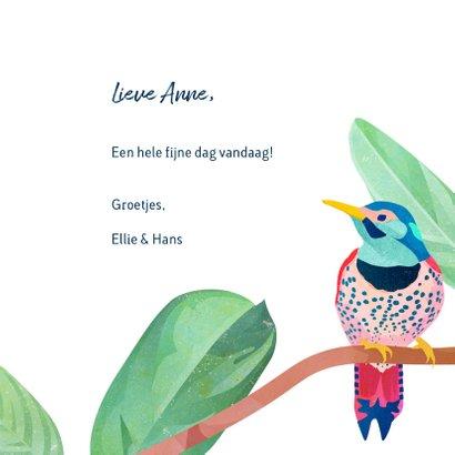 Vogels & bloemen felicitatie 3