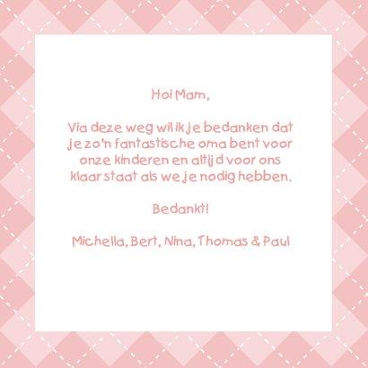 Voor de liefste oma - bedankt 3