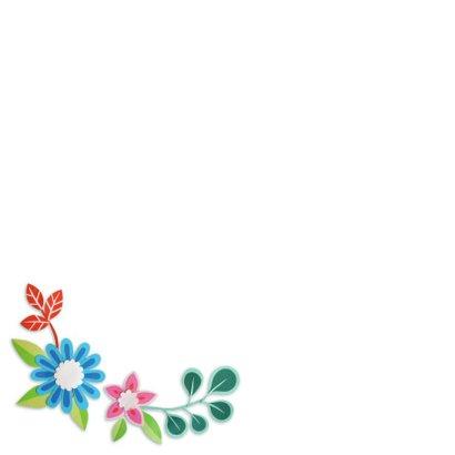 voor de liefste oma bloemenrand 2
