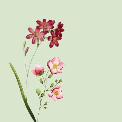 Voor mama - bloemen - moederdag kaart 2