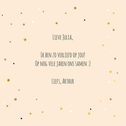Voor mijn Valentijn - gold and dots - Valentijnskaart 3