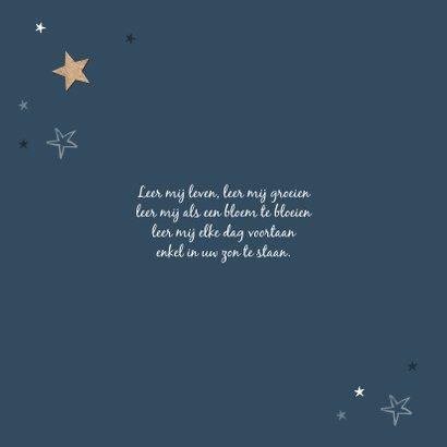 Vormsel uitnodiging jongen meisje houten sterren stijlvol 2
