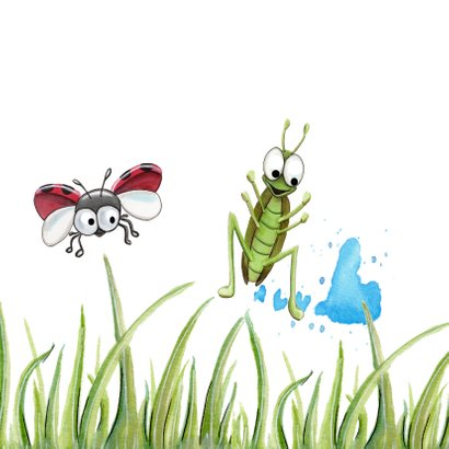 Vriendschap kaarten lieveheersbeestje laat scheten 2
