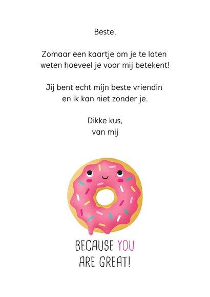 Vriendschapskaart donut grappig lief 3