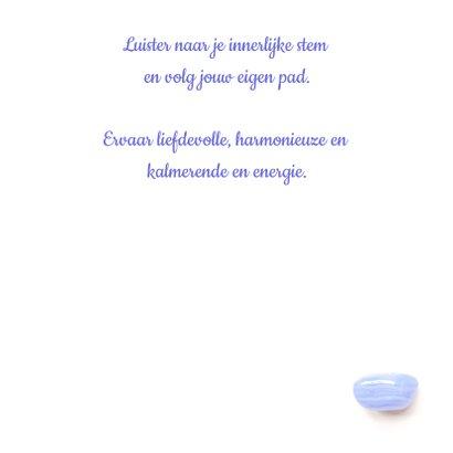 Vriendschapskaart mandala met chalcedoon en blauwe druifjes 3