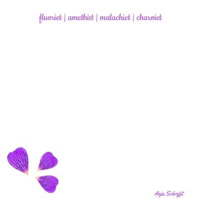 Vriendschapskaart mandala met fluoriet amethist en lavendel 2