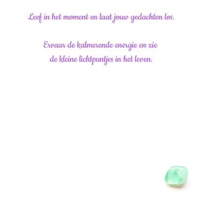 Vriendschapskaart mandala met fluoriet amethist en lavendel 3